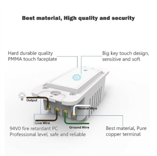 Smart WIFI Light Switch Remote Alexa Google Home IFTTT Voice Control Smart Life