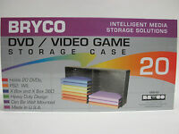 Bryco Dvd Rack Video Storage Hold 20 Deluxe Movie Cases