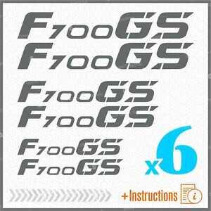 6pcs-Sticker-Set-Grau-Kompatibel-mit-BMW-F-700-GS-f700-F700GS