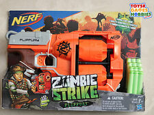 NERF Zombie Strike Flipfury Foam Dart Barrel Drum Set Target Gun Cross Fire Bow