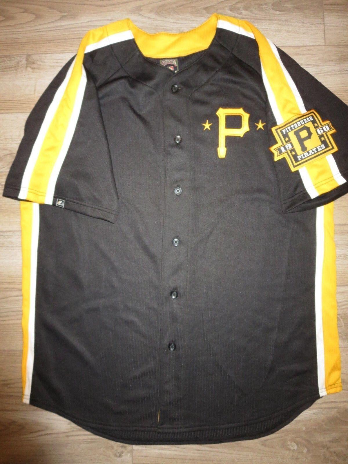Pittsburgh Pirates 1960 MLB Majestätisch Retro Rewind Herren Baseballtrikot L L Herren Rewind c48346