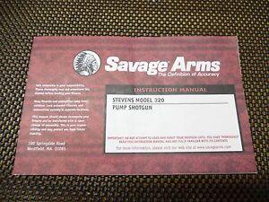 stevens 320 oem factory new 12ga owners manual w free shipping ebay rh ebay com Stevens 320 Pump Shotgun Manual Stevens 320 Shotgun Disassembly