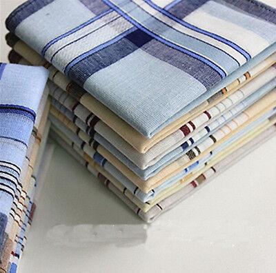 4x Mens HANDKERCHIEFS 100% Cotton Pocket Square Hanky Handkerchief 35x35cm
