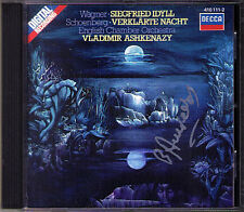 Vladimir ASHKENAZY Signiert SCHOENBERG Verklärte Nacht WAGNER Siegfried Idyll CD