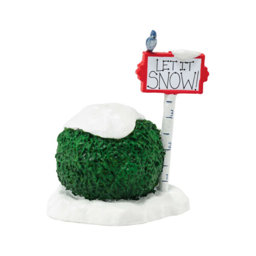 Dept 56 Let it Snow Sign Accessory 4047551 NEW Department 56 General Village