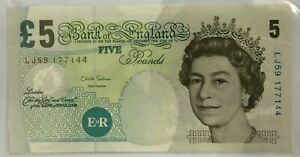 Mazuma *F801 Great Britain England 1990 5 Pound LJ59 177144 UNC