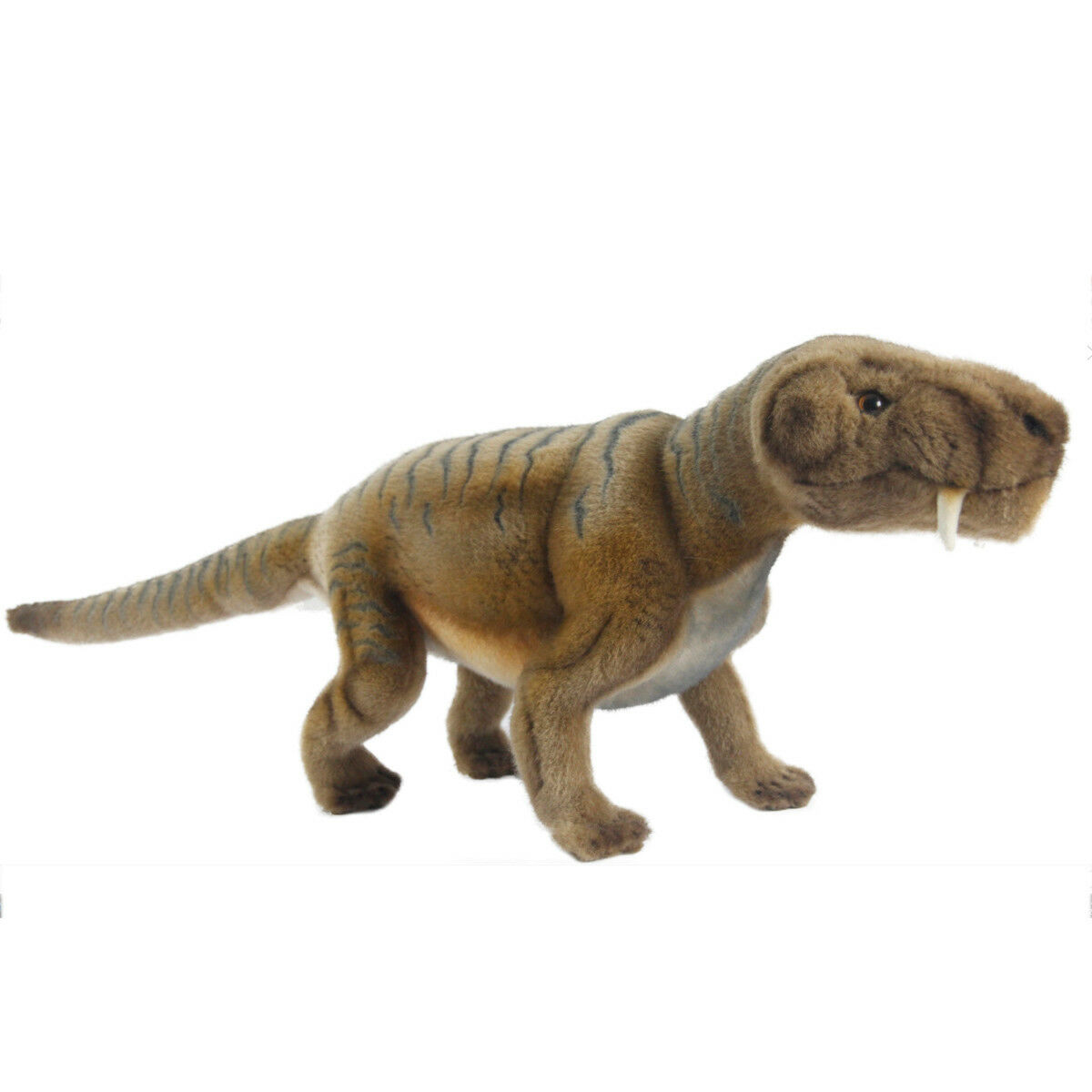 Inostrancevia Dinosaur Hansa Realistic Soft Animal Plush Toy 45cm FREE DELIVERY