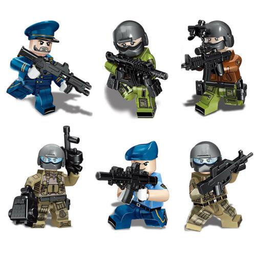 6pcs//set Military Modern Air Force Building Blocks Bricks Figures Models Toys