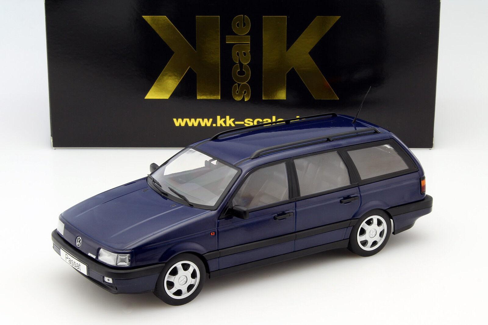 Volkswagen VW Passat B3 Variant Año Fabricación 1988 blue 1 18 Kk-Scale
