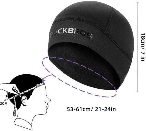 ROCKBROS Wintermütze Fahrrad Mütze Fahrradkappe Helm Unterziehmütze Herren Damen
