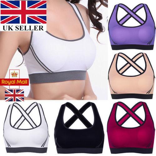 Royaume-Uni Pour Femme Sports Running Yoga Soutien-gorge stretch Shaper Rembourré Soutien-gorge Crop Top Gilet Mar