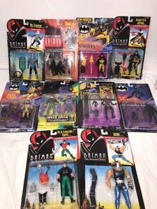 Vintage 1992 Batman Forever / série animée à 10 personnages Lot Kenner Nouveau