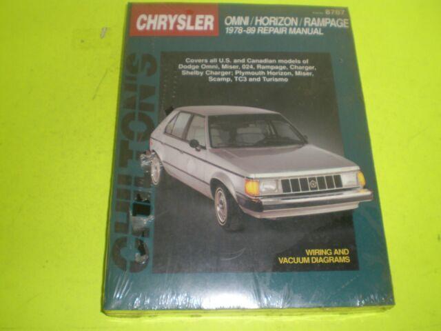 89 dodge omni wiring chrysler omni horizon rampage repair manual 1978 1989 new ebay  rampage repair manual 1978 1989 new