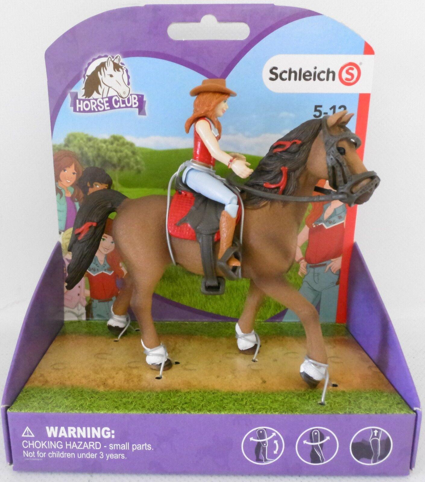 NEU Schleich 42411 Horse Club Mädchen Hannah + Pferd Cayenne OVP