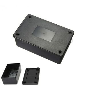 ABS-Plastic-Electronics-Enclosure-or-Project-Box-Black-10-3x6-4x4cm-Brand-New