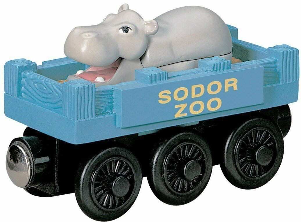 THOMAS THE TANK & FRIENDS - WOODEN IVO HUGH WITH WITH WITH ZOO CARS 2002 NEW RETIRED 0442d0