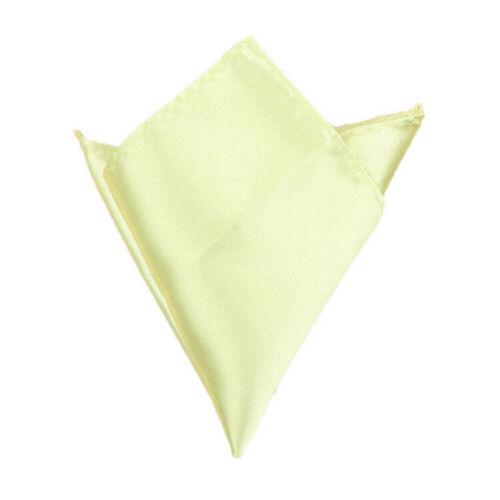 10 Colors Men/'s Silk Satin Pocket Square Hankerchief Hanky Plain Mbyss MjPeM