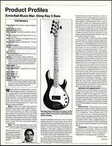 Ernie Ball Music Man Sting Ray 5-string bass guitar sound check review article