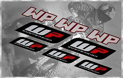 WP SUSPENSION FORKS MX KTM CRF SUZUKI RMZ KAWASAKI KX HUSQVARNA DECALS SET
