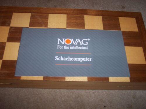 Schachcomputer Prospekt Novag 24 Seiten Kleinformat