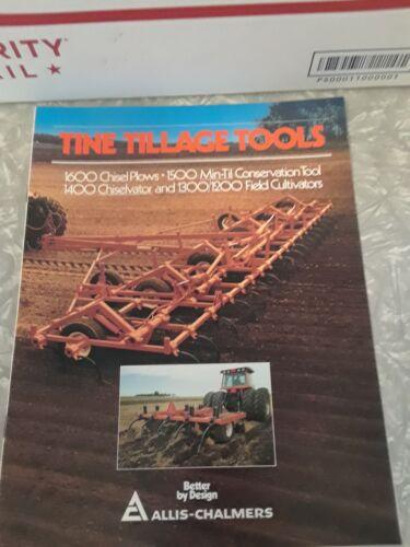 ALLIS-CHALMERS tine tillage tools Booklet / brochure