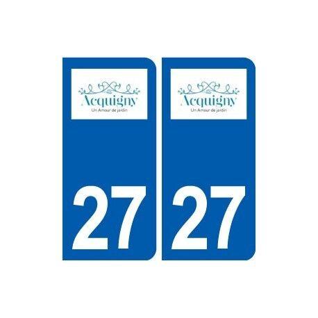 27 Acquigny logo autocollant plaque stickers ville arrondis