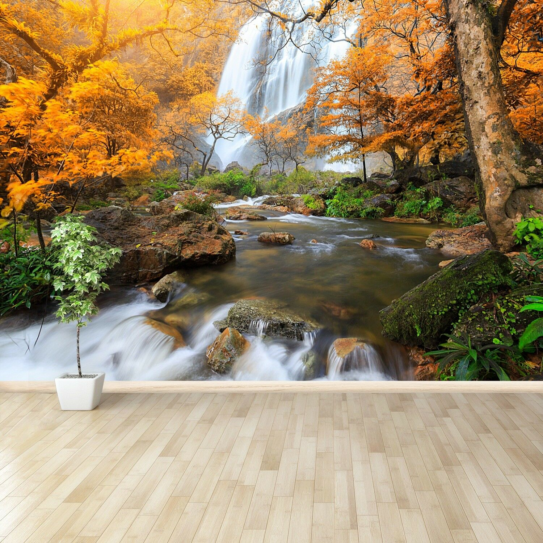 Fototapete Selbstklebend Einfach ablösbar Mehrfach klebbar Klong lan Wasserfall