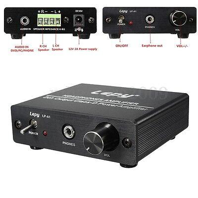 LEPY Hi-Fi Stereo Audio HEADPHONES AMPLIFIER 2 Channel output CLASS-D Power Amp