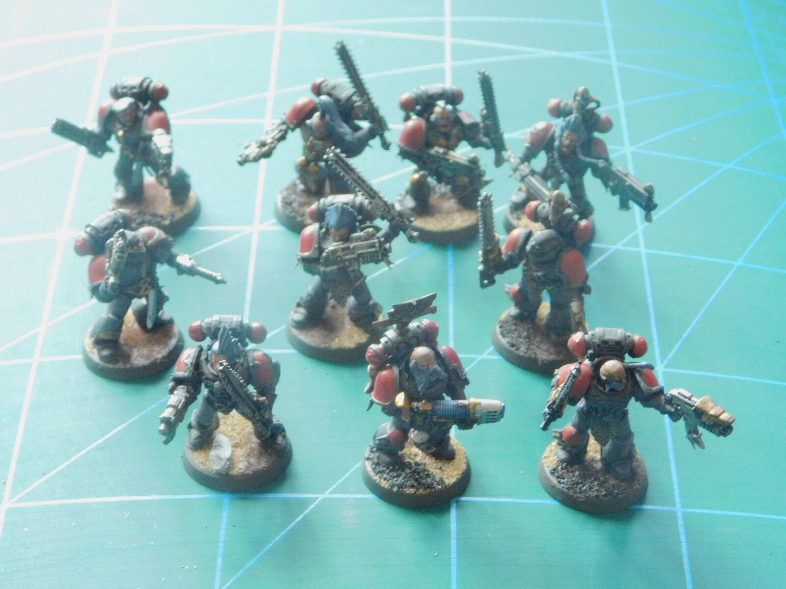 12 warhammer 40k dungeons dragons space marine painted plastic figures