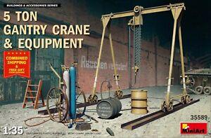 MINIART-35589-1-35-5-TON-GANTRY-CRANE-amp-EQUIPMENT-Plastic-model-kit