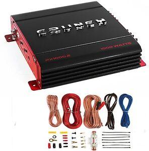 New-Crunch-PX-1000-4-4-Channel-1000-Watt-Amp-Car-Stereo-Amplifier-Wiring-Kit