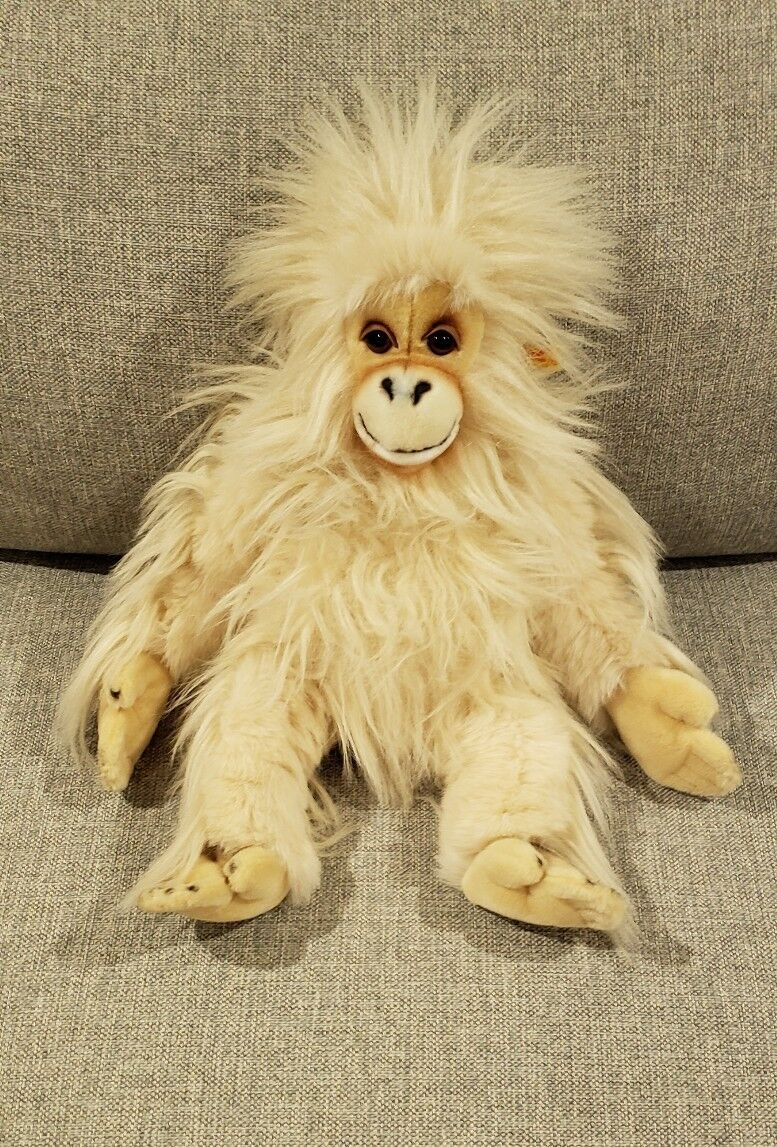 Vintage Steiff Bongo Orangutan Cream Farbe Ear Tag 0525 50