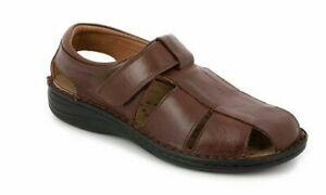 Dettagli su GRUNLAND sandali uomo vera pelle plantare estraibile LINO SE0015 col cioccolato