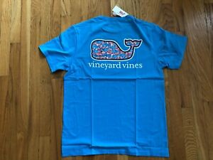 NWT-Men-039-s-Vineyard-Vines-Bluejay-Swimming-With-Fish-Whale-T-Shirt-Medium-Or-XL
