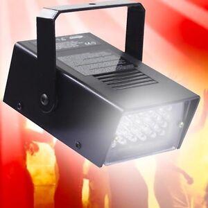 Discotheque-projecteurs-Fete-Spot-LED-Strobe-blanc-Stroboscope-Disco-d-eclairage