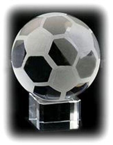 Zs- Pallone da Calcio in Vetro: Idea Regalo Bomboniere Trofeo Tornei Diametro 7.