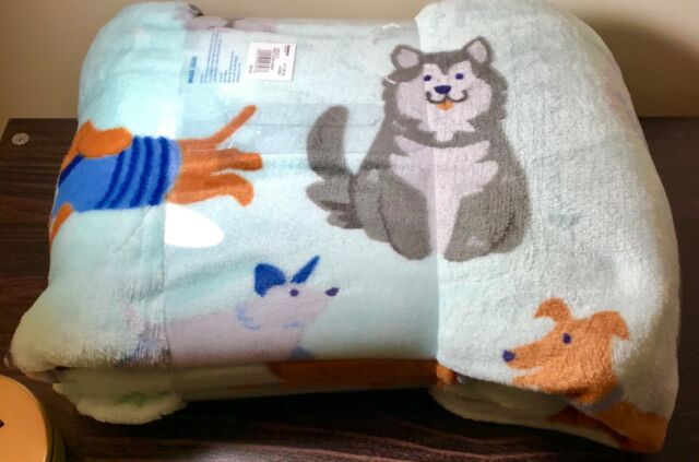 The Big One 5X6 Super Soft Plush Throw Blanket Dogs