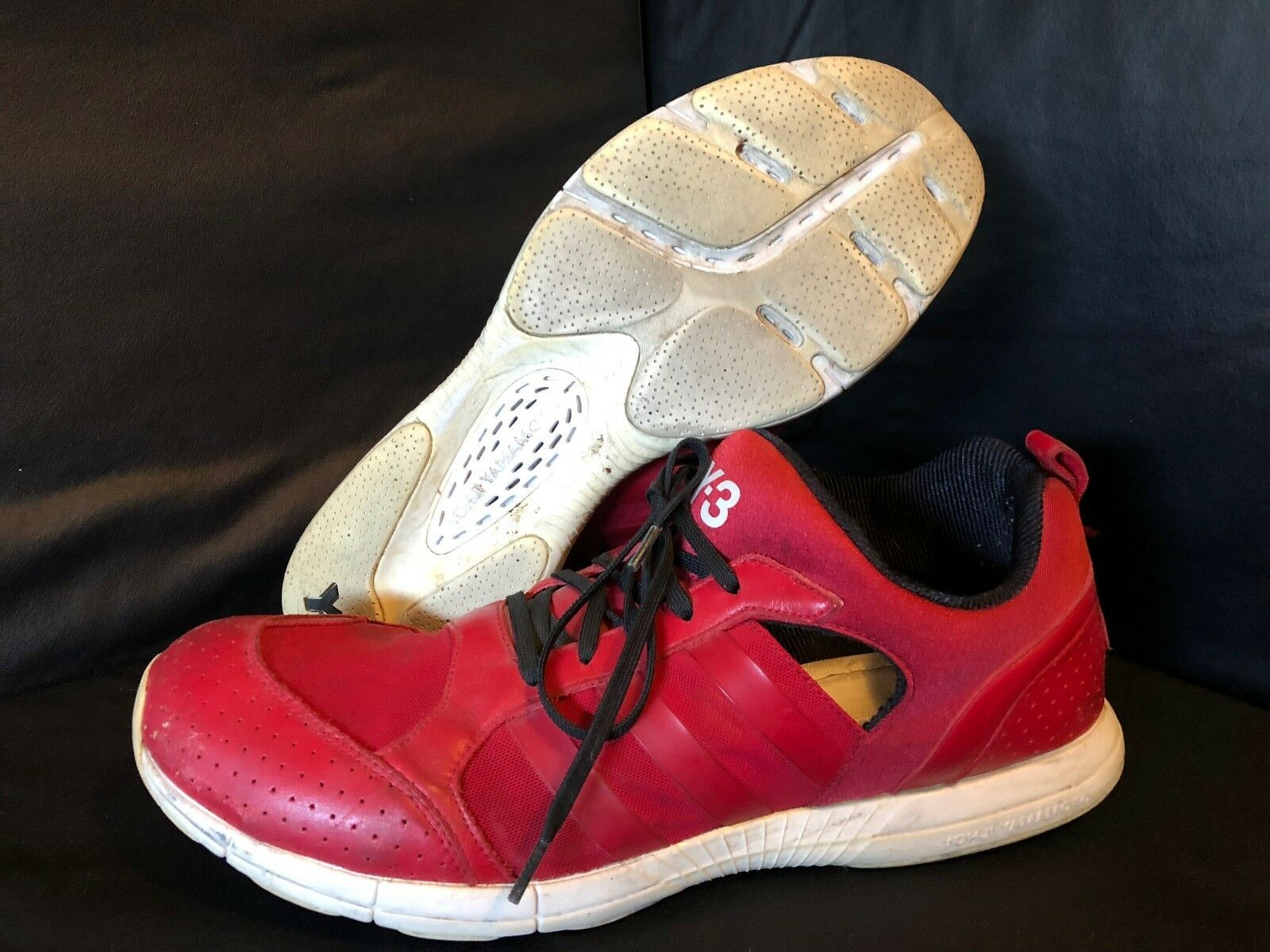 Adidas Y-3 Size 11.5 Red Y3 YOHJI YAMAMOTO with Free Shipping