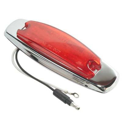 Maxxima M20332RCL Red 6 LED Clear Lens Clearance Marker Light with Stainless Steel Bezel
