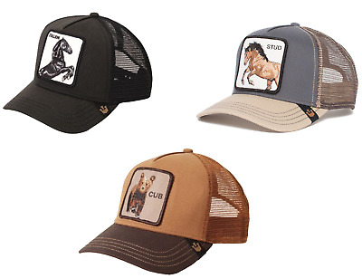 ab622d1f Goorin Bros Animal Farm Snapback Trucker Hat Black Stallion,Brown Cub, Grey  Stud   eBay
