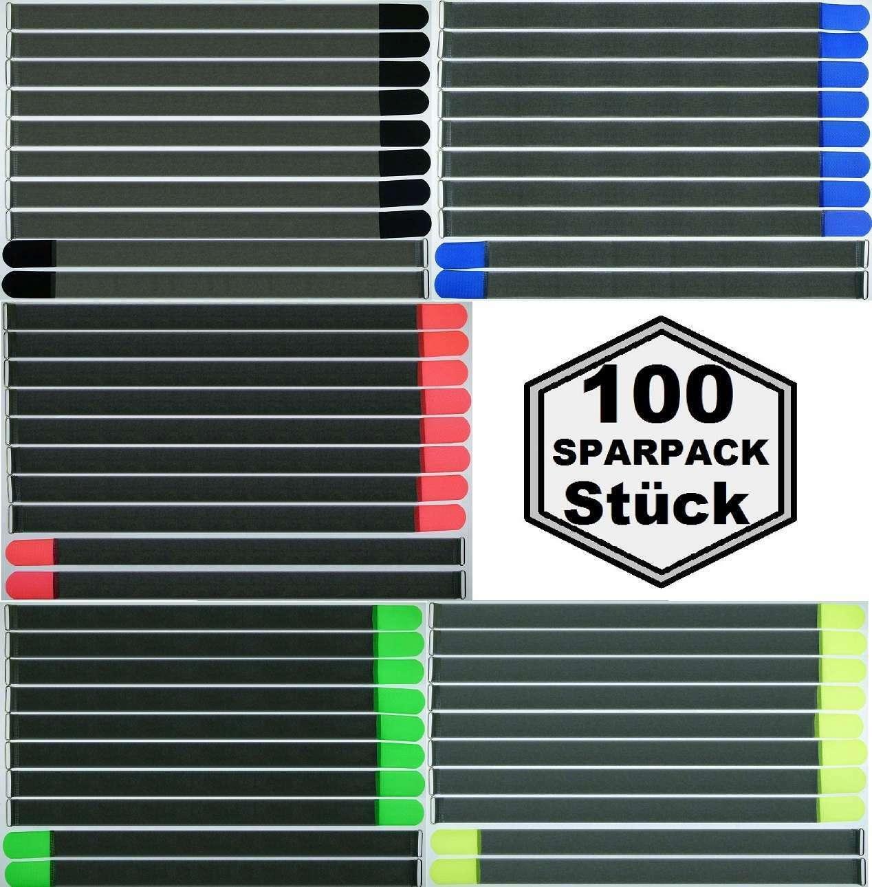 100x CABLE VELCRO FK 80 cm x 50 mm-schwarz, Blau, Neon Grün, rot and Gelb