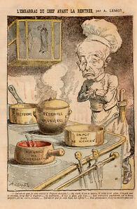 Dessin humoristique politique lemot 1906 embarras chef - Dessin cuisinier humoristique ...