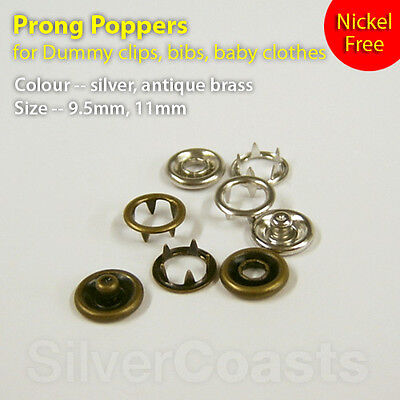 Clothing Repair Non-Rusting And Leather Crafting Fabrics Nickle Free Poppers For Scrapbooking 12Mm Snap Fasteners 10 Pieces 4-Part Silver Press Studs With Prongs