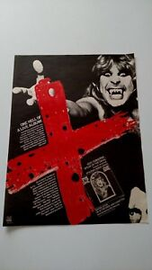 ozzy osbourne speak of the devil 1982 rare original print promo poster ad ebay. Black Bedroom Furniture Sets. Home Design Ideas