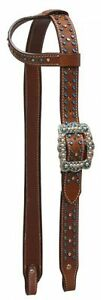 Western-Saddle-Horse-Bling-Show-Rodeo-Bridle-Headstall-Blue-Crystal-Rhinestones