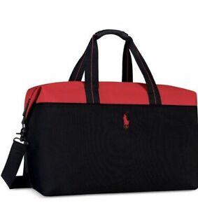 Red Black Duffle Bag Weekender Travel
