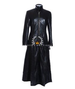 Details about Donna Trinity Matrix Black New Design Genuine Lambskin Long Coat show original title