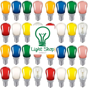 7 pack 15w SES Pygmy Bulbs pink blue green yellow amber white red