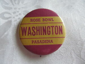 Vintage-Rose-Bowl-Button-Pin-WASHINGTON-STATE-COUGARS-University-NCAA-Football