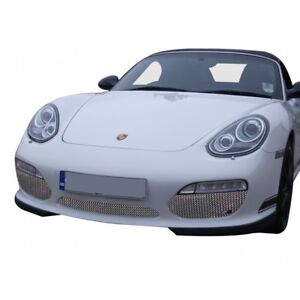 Zunsport Polished Silver Front Grille Kit Porsche Boxster 987 2 09